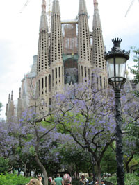 Gaudi's Sagrada Familia cathedral in Barcelona Spain